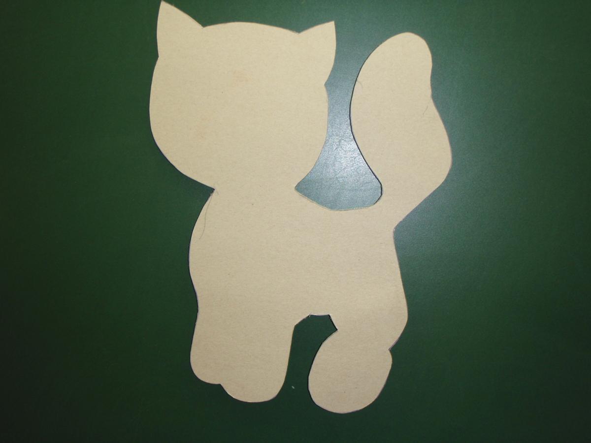 Поделки из бумаги котёнка